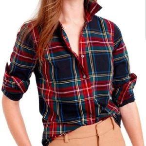 J.Crew 4 Tailored Perfect Shirt In Stewart Plaid